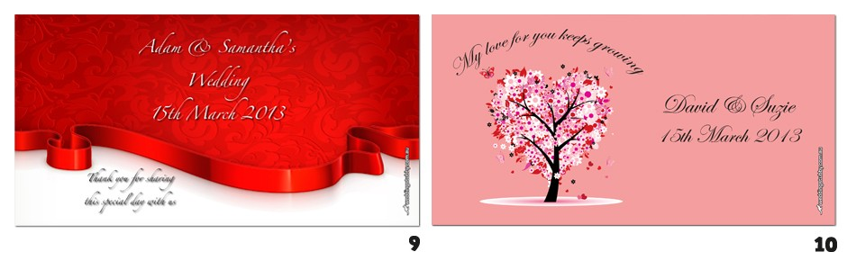 wedding design 9 and 10
